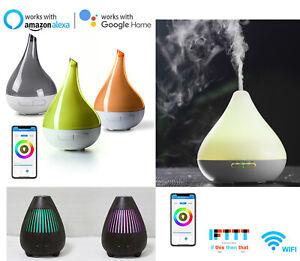Alexa/Google Smart Electric Oil Essential Aroma Diffuser/Humidifier/Air Purifier