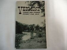 Vermont Farms & Summer Homes For Sale Guide 1948 ~ Read Condition ~