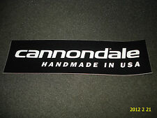 "1 Authentic CANNONDALE biciclette ""handmade in USA"" Adesivo/Transfer/aufkleber"