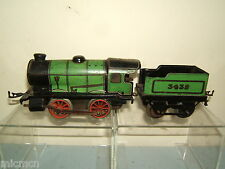 VINTAGE HORNBY MODEL No.M1 LOCO AND TENDER  WITH BLACK CHASSIS
