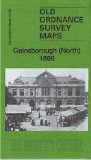 OLD ORDNANCE SURVEY MAP GAINSBOROUGH NORTH 1898