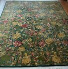 9' x 12' Fine Floral Green Garden Hand Knotted Wool India Oriental Rug Cleaned