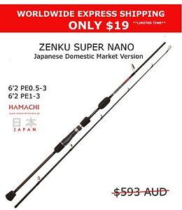 2016 Hamachi Zenku JDM Nano Jig 6'2 PE 1 - 3 Japanese jigging spin fishing rod