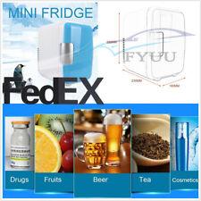 US Stock Car Home Mini Freezer Cooling Heating Box Makeup Cosmetic Refrigerator