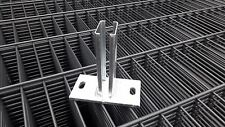 Bodenplatte, Fußplatte, Adapter, Doppelstabmattenzaun für Pfosten 40x60 mm Zaun