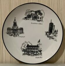 Vintage 1960's Seyei Japan Fine China Illinois Landmarks Plate