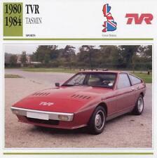 1980-1984 TVR TASMIN Sports Classic Car Photo/Info Maxi Card