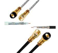 SAT Anschlusskabel 135dB HQ Kupfer HIGH-Tech Profi Kabel 8K UHD HD+SKY AQUA Gold