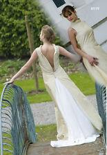 robe de mariée miel et écrue taille 38