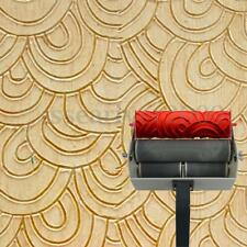7'' Embossed Paint Roller Wall Decoration Painting Roller DIY Design Tool