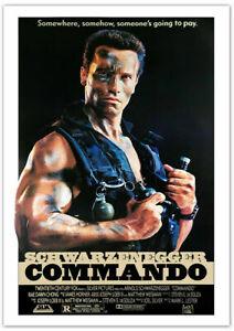 Schwarzenegger: Phantom Kommando (1985) Filmposter - 59,4 x 84,1 cm