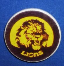 1980's Fitzroy Brisbane Lions AFL Football Footy Tin Player Badge Pin 4cm VFL