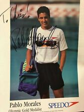 Olympic Swimmer GOLD & SILVER Medalist, Pablo Morales AUTOGRAPHED photo