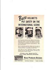 1967 JACKIE STEWART - JIM CLARK - JO BONNER ~ ORIGINAL SMALLER BUCO HELMET AD