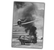 War Photo Japanese air attack on pearl Harbor base in the Pacific WW2 4x6 Q