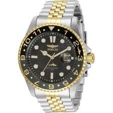 Invicta Men's Watch Pro Diver Japanese Quartz Black Dial Two Tone Bracelet 35131