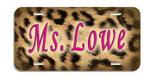 Leopard Design Auto License Plate Personalize Name -Text In Any Color