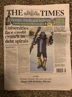 Bitcoin The Times 10 Year Anniversary Newspaper Like Casascius Lealana VERY RARE