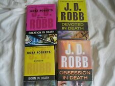 New listing 4 Hardcovers In Death Series J D Robb Born Creation Devoted Obsession
