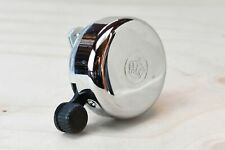 Widek traditional steel Dutch bicycle bell with engraved crown - vintage style