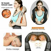 Heat Massage Pillow Shiatsu Deep Kneading Massager Relax Neck Back Shoulder Pain
