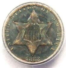 1868 Proof Silver 3 Cent Coin (3CS) - Certified ICG PR65 (PF65) - $1,620 Value!