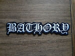 BATHORY,IRON ON WHITE EMBROIDERED PATCH