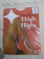 Pink Sandalfoot Tall Lace Top Hold Ups American Stockings Vintage Garter New
