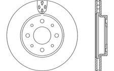 2x OPEN PARTS Discos de freno delanteros Ventilado Para FIAT PANDA BDA2234.20