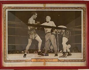 Vintage Boxing  Picture Billy Conn Vs Bob Pastor Sep 6 1940 Framed