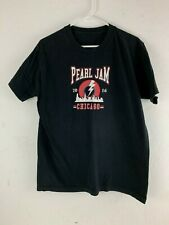 Pearl Jam 2016 Eddie Vedder Wrigley Field Chicago Concert Tour T Shirt Large