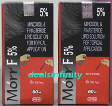 Pack 2 x New Morr-F 5% Hair Regrowth FDA Approved DHT Blocker (60 ml) Free Ship