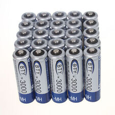 25pcs BTY 3000mAh 1.2V AA Ni-MH High quality Rechargeable Batteries