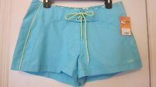 New Womens Champion  Athletic Shorts Running Swim Coverup Aqua~Sz S~NWTS
