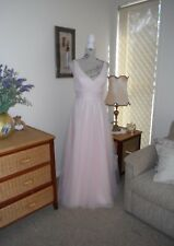 Designer Alfred Angelo Ladies Pale Pink Formal/Evening Gown Size 6