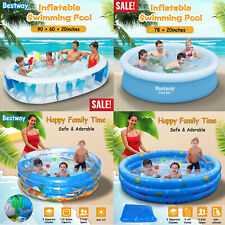 Inflatable Swimming Pool Center Lounge Family Kids Water Play Fun Backyard