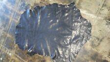 "Italian Lambskin hide leather ""Thin"" Distressed Shiny Black  6 Sq.Ft #796"