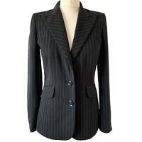 Planet Striped Blazer Jacket 6 Fit 8 10 Black White Tailored Work Smart Classic