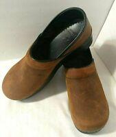Dansko Sz 40 Brown Oiled Leather Professional Clogs US Sz 9.5 10 Distressed Look
