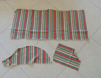 Vintage UPHOLSTERY FABRIC  STRIPE 41 X 17 +  SMALL PC