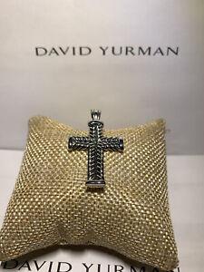 David Yurman Sterling Silver Large Chevron Cross Pendant