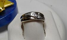 Heavy 14Kt Yellow Gold Band #5665A Estate .30ctw Natural Baguette Diamond Gents