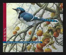 Canada — 2001, Quebec Wildlife Habitat Conservation: Blue Jay —Van Dam #QW14 MNH