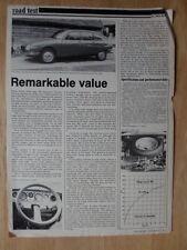 CITROEN GS G SPECIAL orig 1977 UK Mkt Road Test Brochure
