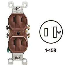 200 Pk Leviton 15A Brown Residential Grade 1-15R Duplex Electric Outlet 223CP