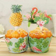 Flamingo Piña Cake Topper Wrapper Pastel de Frutas Fiesta Boda Decoración