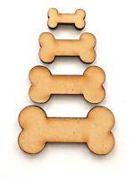 Dog bones shapes, 20mm 30mm 40mm 50mm Wooden Mdf craft design embellishments