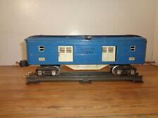 LIONEL PREWAR O GAUGE # 615 BLUE BAGGAGE CAR