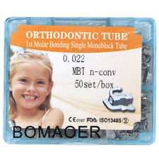 200pcs dental orthodontic 1st molar 022 MBT bonding Monoblock buccal tube