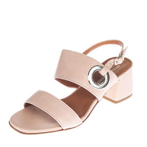 RRP €135 OROSCURO Leather Slingback Sandals EU 37 UK 4 US 7 Heel Made in Italy